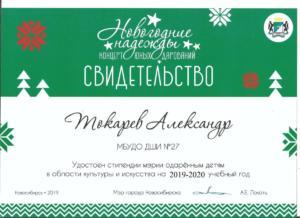 Токарев Александр 2019